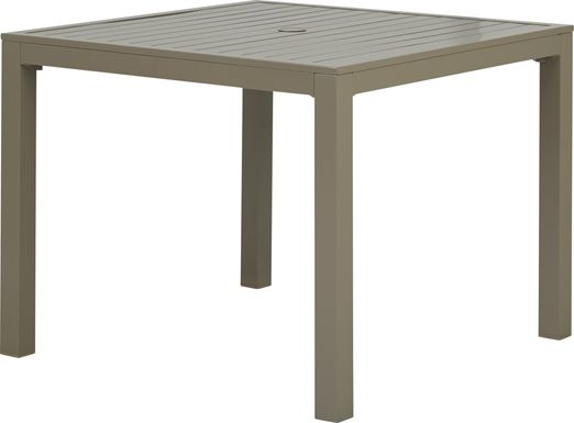 Solana Taupe 38 in. Square Balcony Outdoor Dining Table