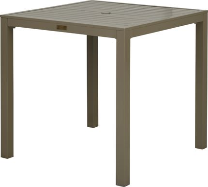Solana Taupe 38 in. Square Bar Height Outdoor Dining Table