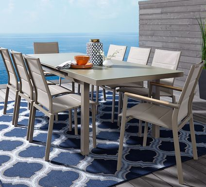 Solana Taupe 5 Pc 71-94 in. Rectangle Outdoor Dining Set