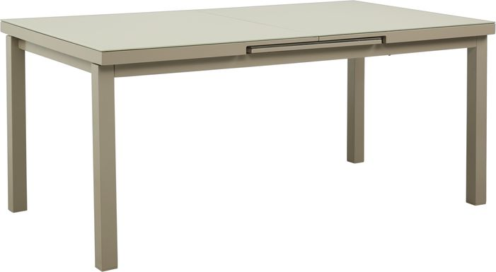 Solana Taupe 71-94 in. Rectangle Outdoor Dining Table