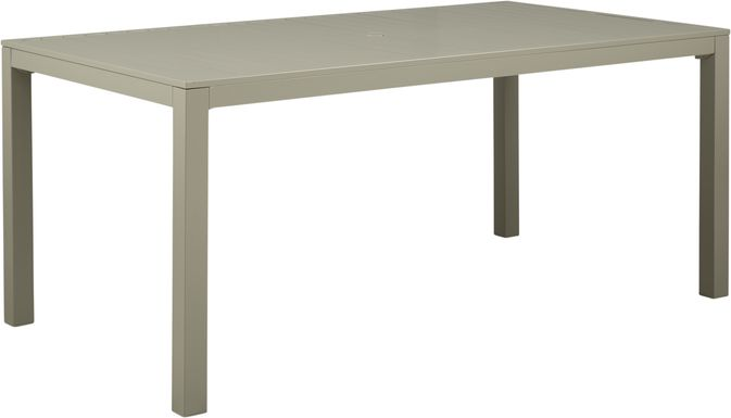 Solana Taupe 70 in. Rectangle Outdoor Dining Table