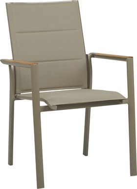 Solana Taupe Outdoor Arm Chair