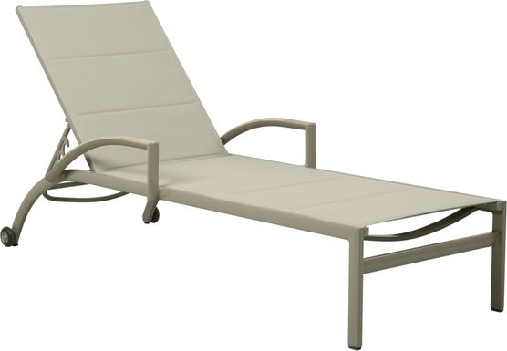 Solana Taupe Outdoor Chaise