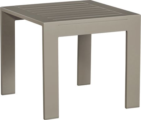 Solana Taupe Outdoor End Table