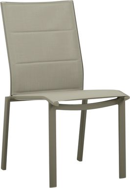 Solana Taupe Outdoor Side Chair