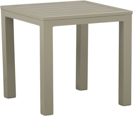 Solana Taupe Square Outdoor End Table