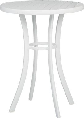 Solana White 32 in. Round Bar Height Outdoor Dining Table