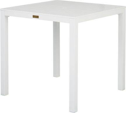Solana White 38 in. Square Balcony Outdoor Dining Table