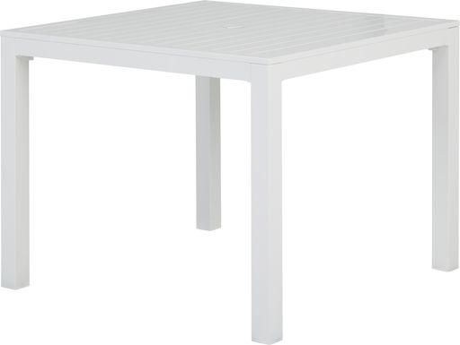 Solana White 38 in. Square Dining Table