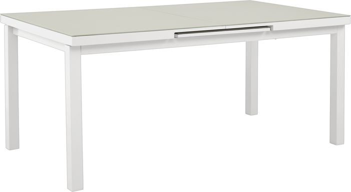 Solana White 71-94 in. Rectangle Outdoor Dining Table