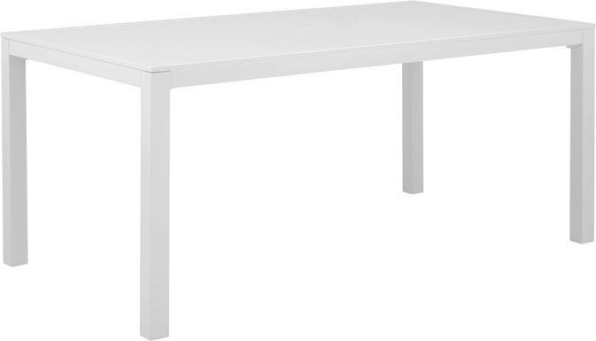 Solana White 70 in. Rectangle Outdoor Dining Table