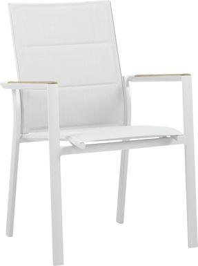Solana White Outdoor Arm Chair