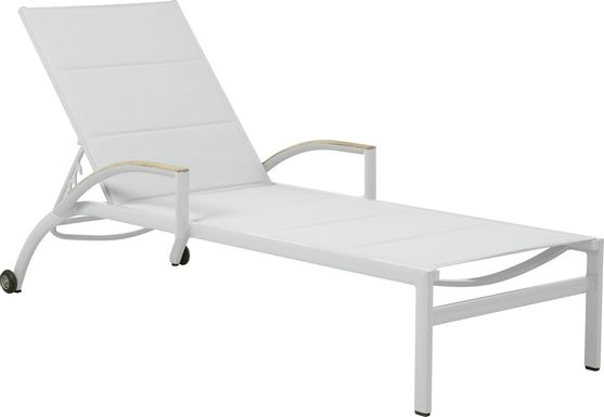 Solana White Outdoor Chaise