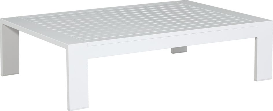 Solana White Outdoor Cocktail Table