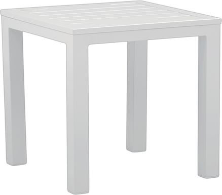 Solana White Square Outdoor End Table