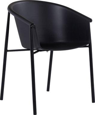 Soldau Black Outdoor Side Chair