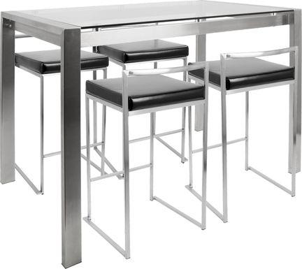 Sora Black Counter Height Table Set