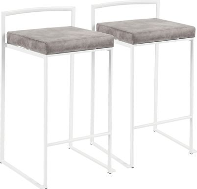 Sora Stone Counter Height Stool (Set of 2)