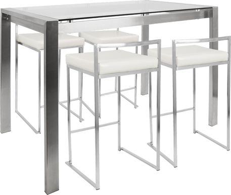 Sora White Counter Table Set