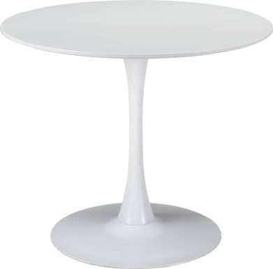 Sosie White Round Dining Table