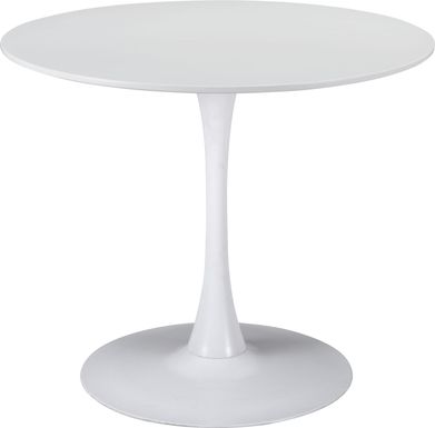 Sosie White Round Dining Table