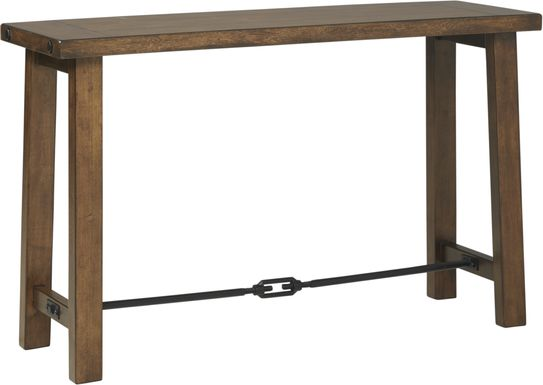 South River Brown Sofa Table