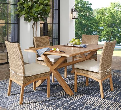 Southport Tan 5 Pc Outdoor Dining Set