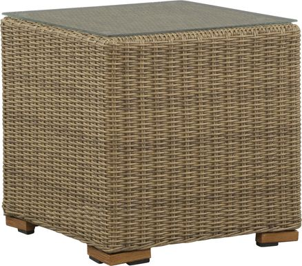 Southport Tan Outdoor End Table