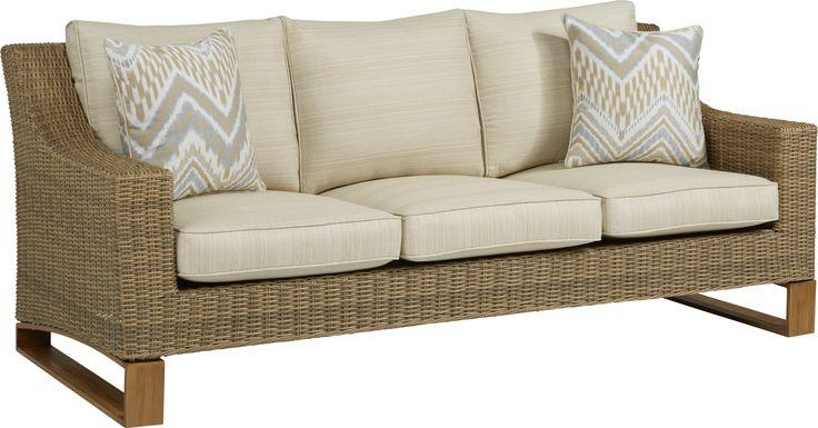 Southport Tan Outdoor Sofa