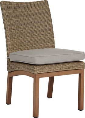 Southport Tan Outdoor Wicker Side Chair