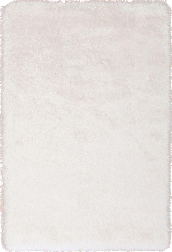 Sparkle Shag Ivory-Gold 5' x 7'5 Rug