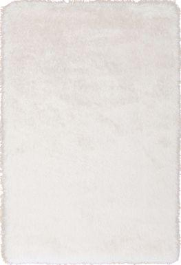 Sparkle Shag Ivory-Gold 7'8 x 9'5 Rug