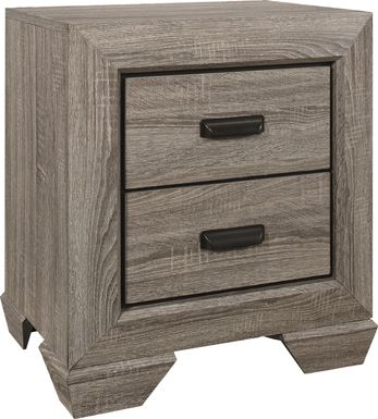 Spring Branch Gray Nightstand