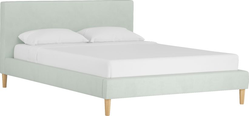 Spring Jewels Basil Queen Upholstered Bed
