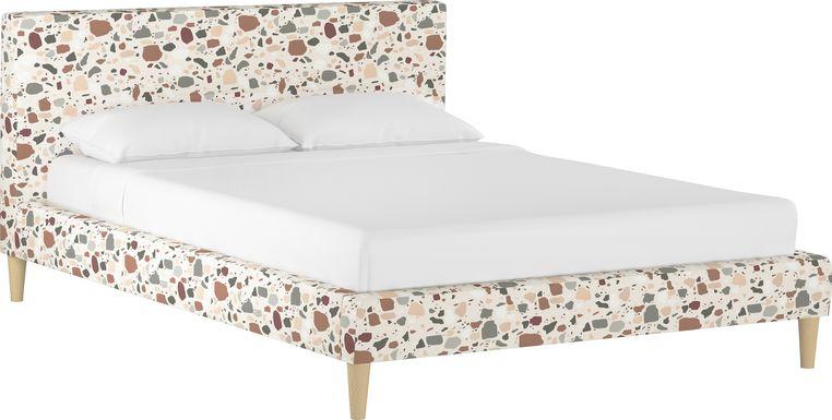 Sprucedale Rust Queen Upholstered Bed