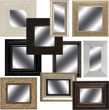 Sprucehaven Brown Mirrors Set of 10
