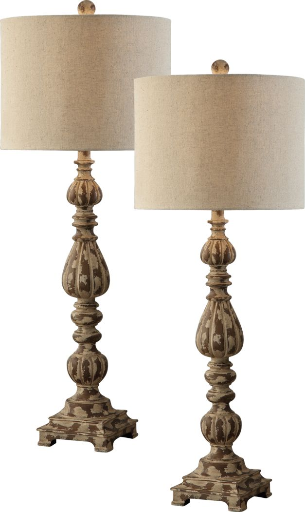 Stafford Park Beige Set of 2 Lamps