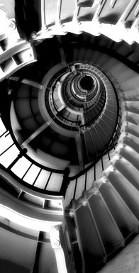 Stairway in Black and White 7' Long Canvas Artwork