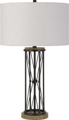 Staker Circle Black Lamp