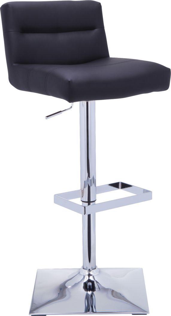 Stanyan Black Adjustable Barstool
