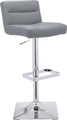 Stanyan Gray Adjustable Barstool