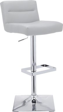 Stanyan White Adjustable Barstool