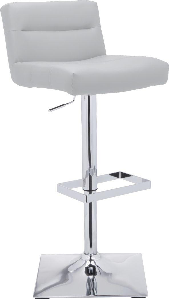 Stanyan White Adjustable Barstool
