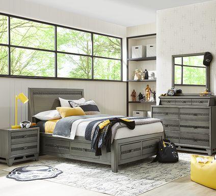 Star Wars Carbonite Gray 5 Pc Twin Storage Bedroom