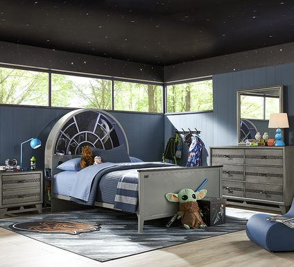 Star Wars Carbonite Gray 5 Pc Full Bedroom