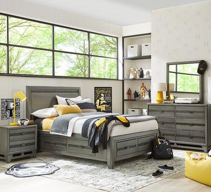 Star Wars Carbonite Gray 5 Pc Full Storage Bedroom