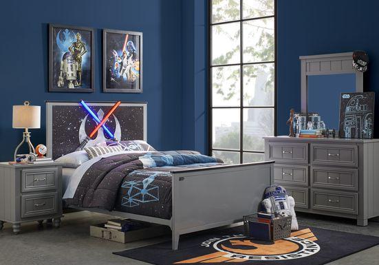 Star Wars Lightsaber™ Gray 3 Pc Full Panel Bed