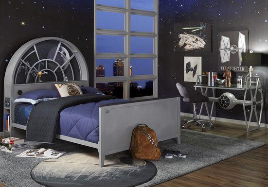 Star Wars Millennium Falcon™ Gray 3 Pc Full Bookcase Bed
