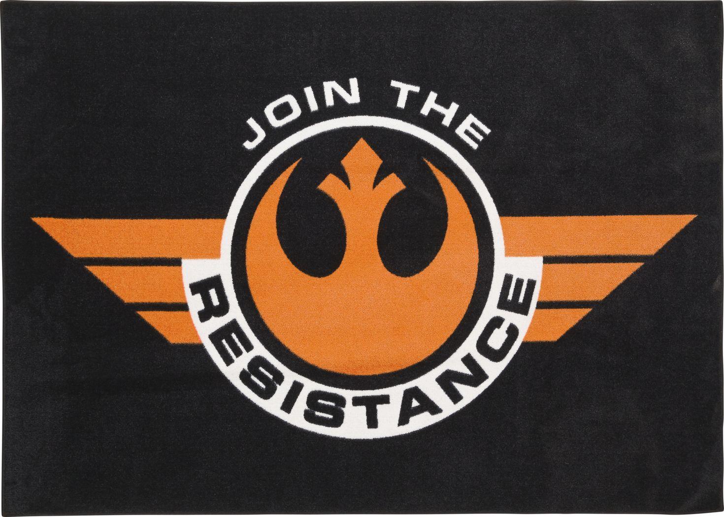 Star Wars Resistance Black 5' x 7' Rug