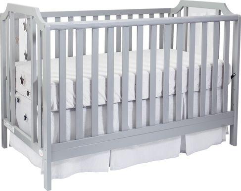 Starry Grove Light Gray Covertible Crib